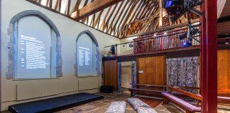 Marlowe Kit interior gallus studio kent's remarkable writers exhibition marlowe theatre pioneering canterbury