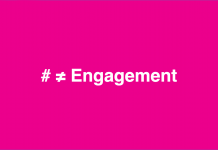 A hashtag does not equal engagement