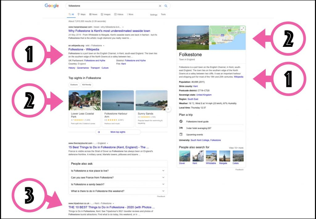 google search results for Folkestone