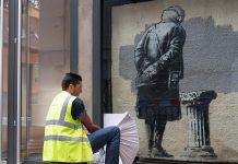 Creative Folkestone Banksy Art Buff plinth project