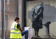 Creative Folkestone Banksy Art Buff plinth project